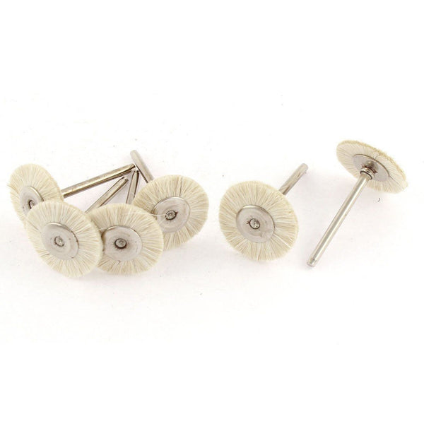 "Rotary 1"" White Bristle Jewelry Buffing Polishing Wheels Brushes"