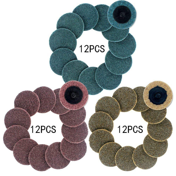 2 inch Roloc Quick Change Discs 36pcs Sanding Discs, Surface