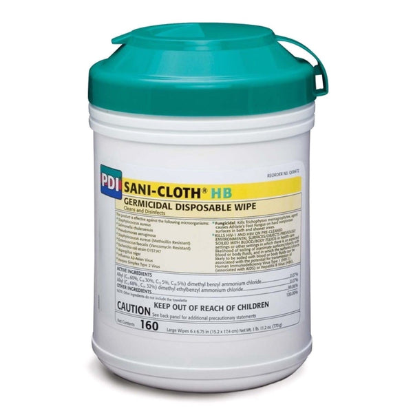 Sani-Cloth HB Disinfectant Wipes 160 EPA Large Wipes Regular