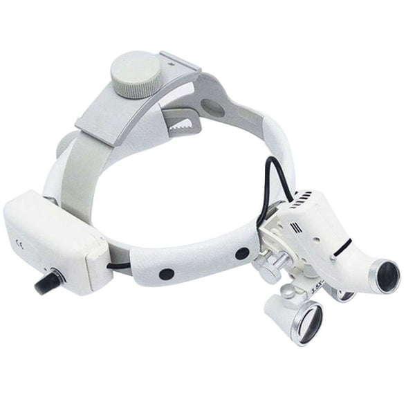 Dental Binocular Surgical Loupes Glass Magnifier with LED Headlight 3.5x