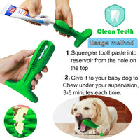 Dog Toothbrush Stick Dog Chew Tooth Cleaner Puppy Dental Care Brushing Stick, Natural Rubber, Bite Resistant Chew Toy