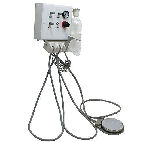 Wall Mounted Portable Dental Turbine Unit, works with Air Compressor