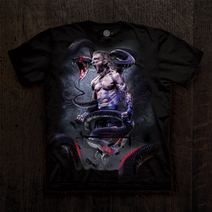"TJ Dillashaw Men's T-shirt in black. ""Bosslogic"" design"