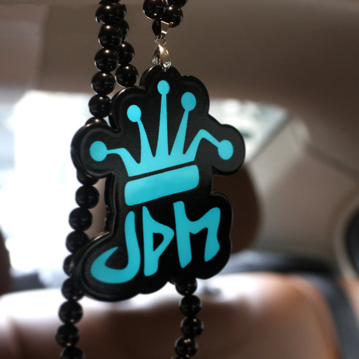JDM Blue Crown Rearview Mirror Pendant