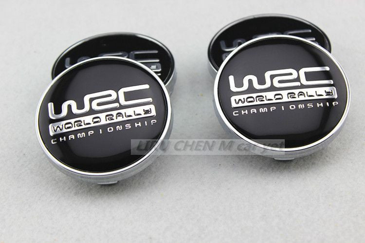 60mm Black WRC Center Hub Cap Chrome, , Immortal Customs, Immortal Customs - Immortal Customs