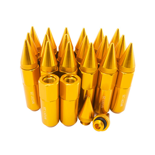 JDM Extended Spiked Lug Nuts M12X1.25 90mm (Gold)