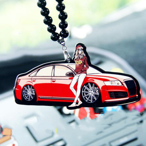 Audi Car Girl Rearview Mirror Pendant
