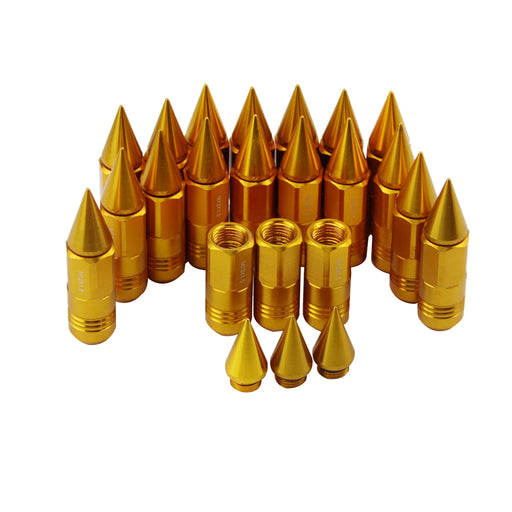 JDM Extended Spiked Lug Nuts M12X1.5 50mm (Golden)