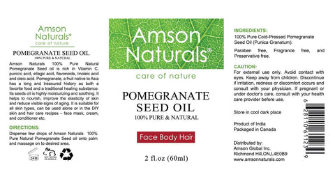 Pomegranate Seed Oil 2oz - Amson Naturals