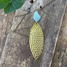 Aquamarine and Vintage Lure Pendant