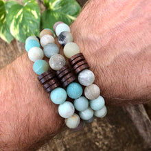 Amazonite and Wood Bracelet, Large