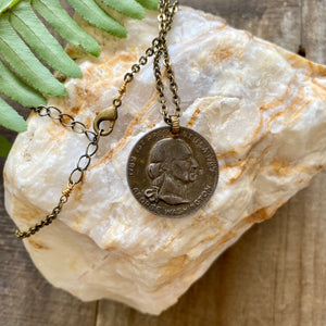 First President Coin Necklace