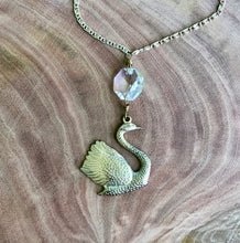 Swan and Crystal Pendant