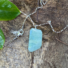 Large Aquamarine on Sterling Silver