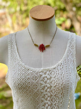 Warrior Red Coral and Jade Necklace