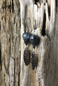 Black Moonstone Alluring Earrings