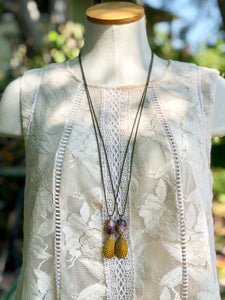 Charolite and Vintage Lure Pendant