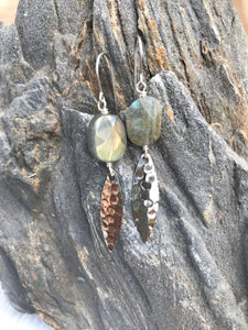 Labradorite Silver Alluring Earrings