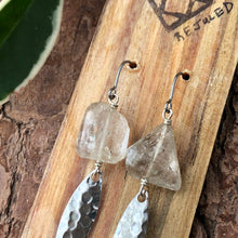 Rutilated Quartz and Fishing Lure Earrings