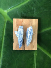 Blue Kyanite Long Studs