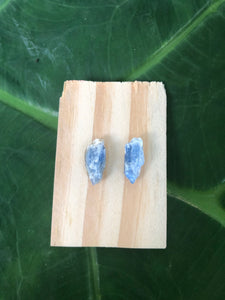 Blue Kyanite Mini Studs