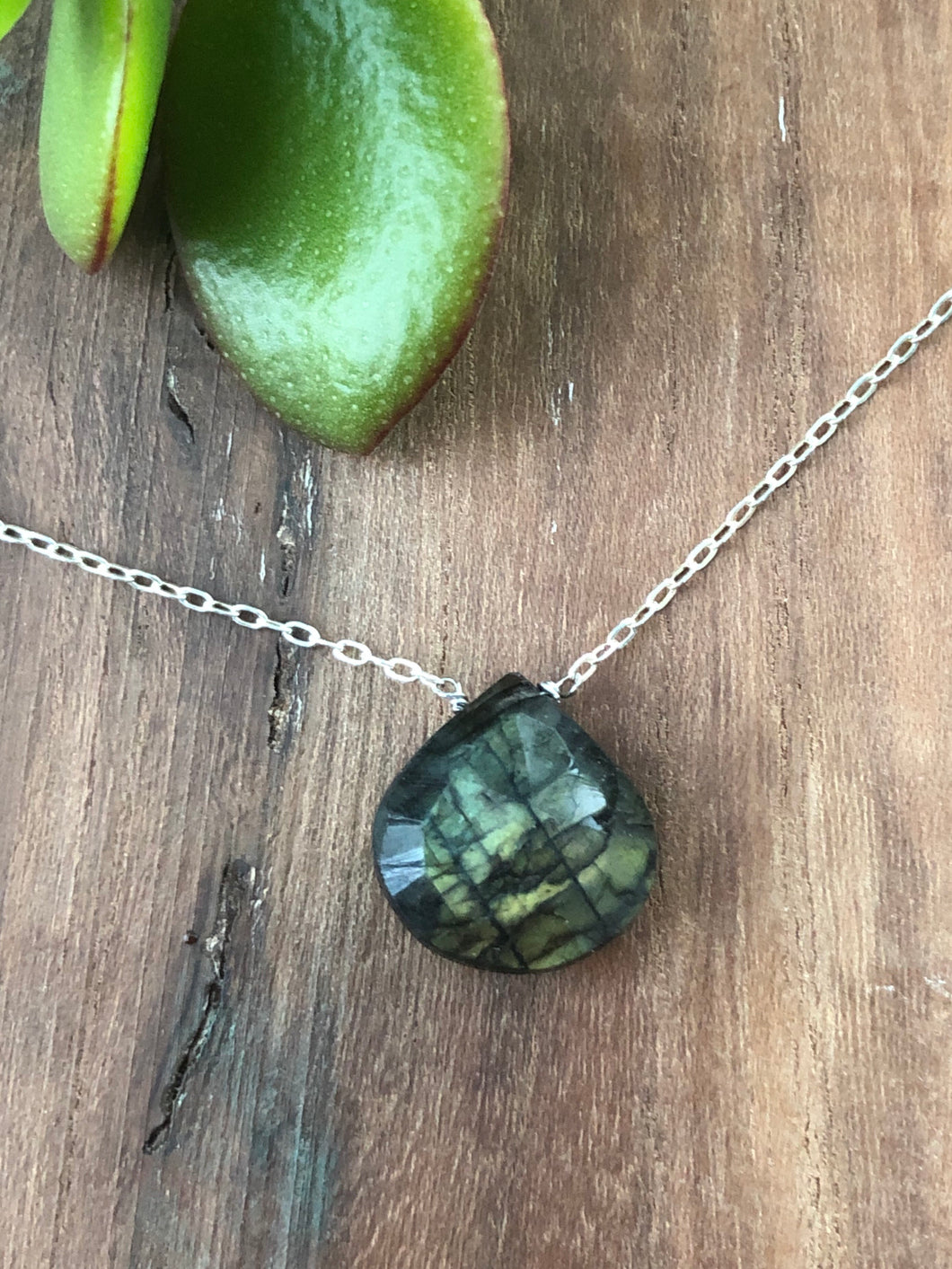 Labradorite Sparkle on Sterling Silver Chain