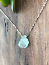 Aquamarine on Sterling Silver Chain