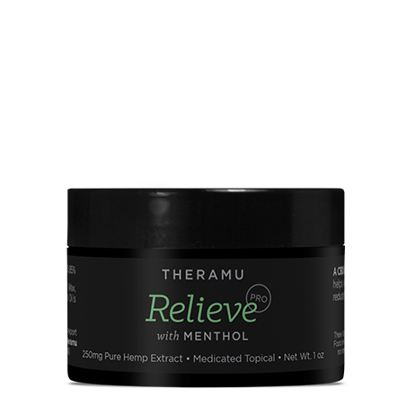 Theramu Relieve Pro with Menthol CBD Hemp Extract