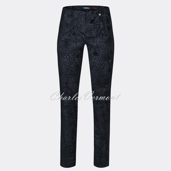 Robell Marie Full Length Trouser 51412-54669-69 (Navy)
