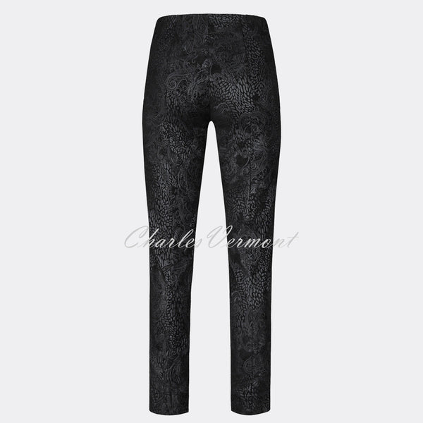 Robell Marie Full Length Trouser 51412-54669-90 (Black)