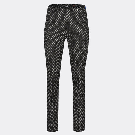 Robell Rose Full Length Trouser 51673-54464-90 (Black & Grey)