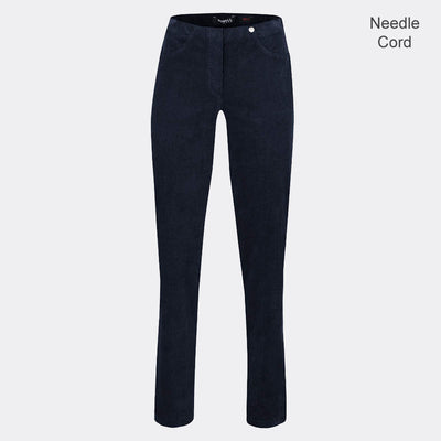 Robell Bella Full Length Trouser 52457-54363-691 (Navy Needle Cord)