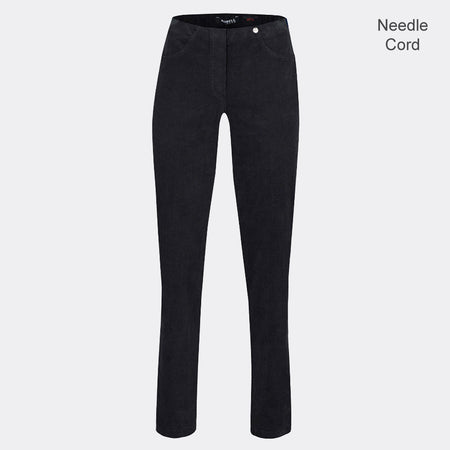 Robell Bella Full Length Trouser 52457-54363-90 (Black Needle Cord)