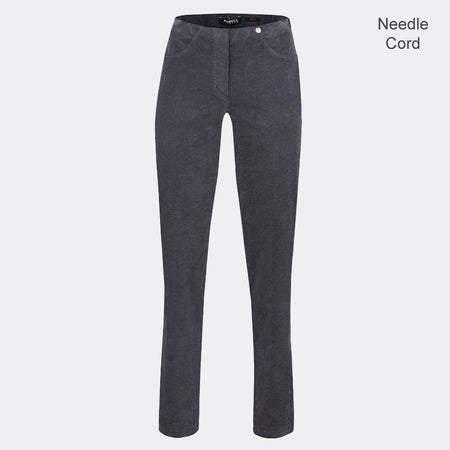 Robell Bella Full Length Trouser 52457-54363-95 (Grey Needle Cord)