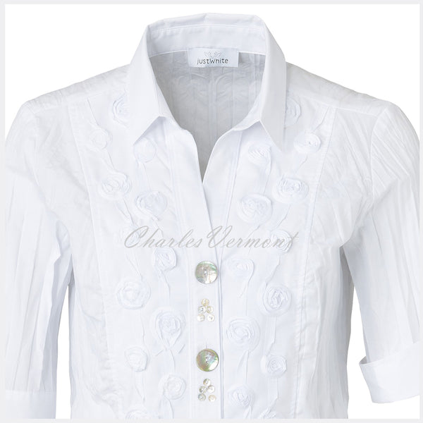Just White Blouse – Style 41130
