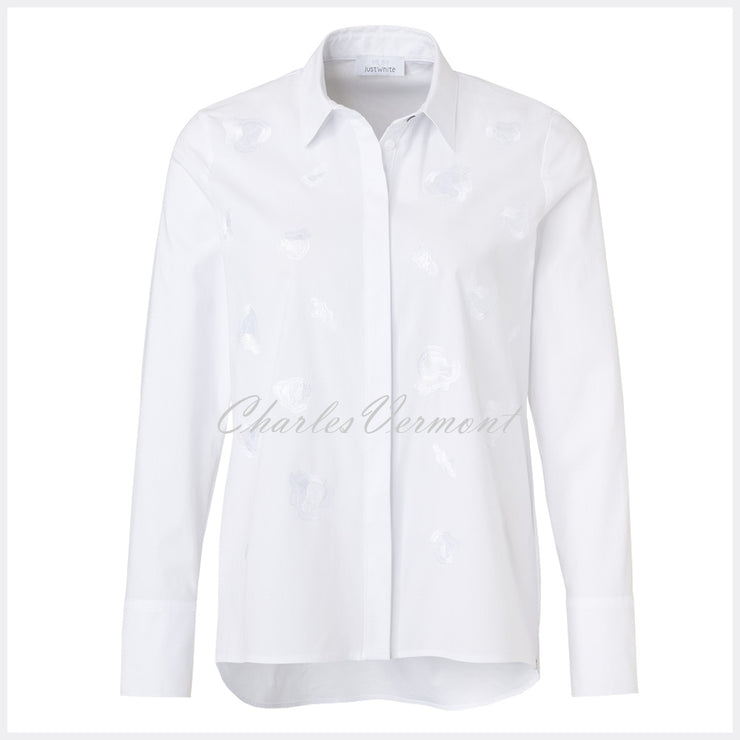 Just White Blouse – Style 41910
