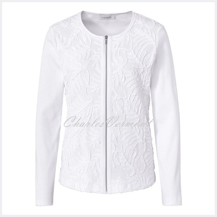 Just White Jacket (Embroidered Front) – Style 42325