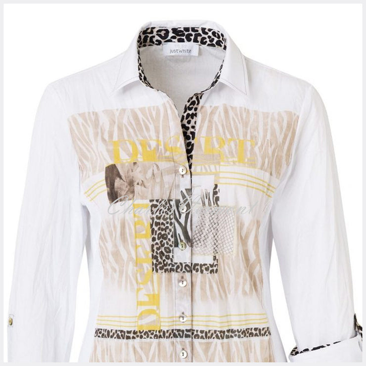 Just White Blouse – Style 42558
