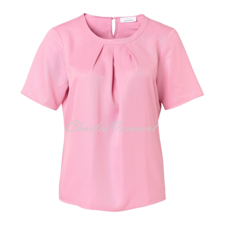Just White Blouse – Style 42995 (Pink 210)