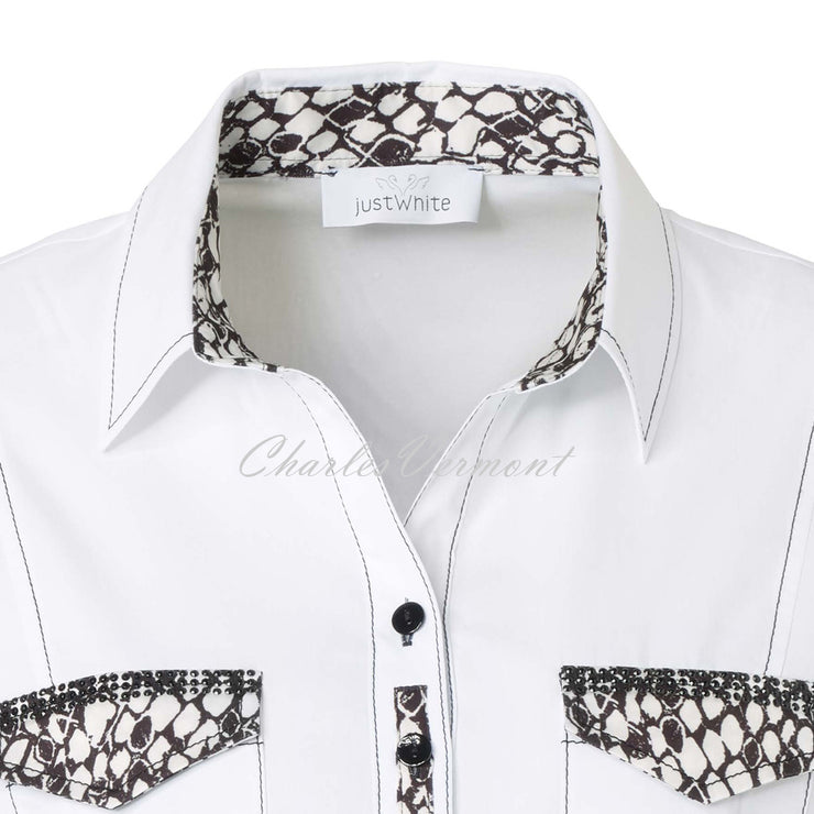 Just White Blouse – Style 43058