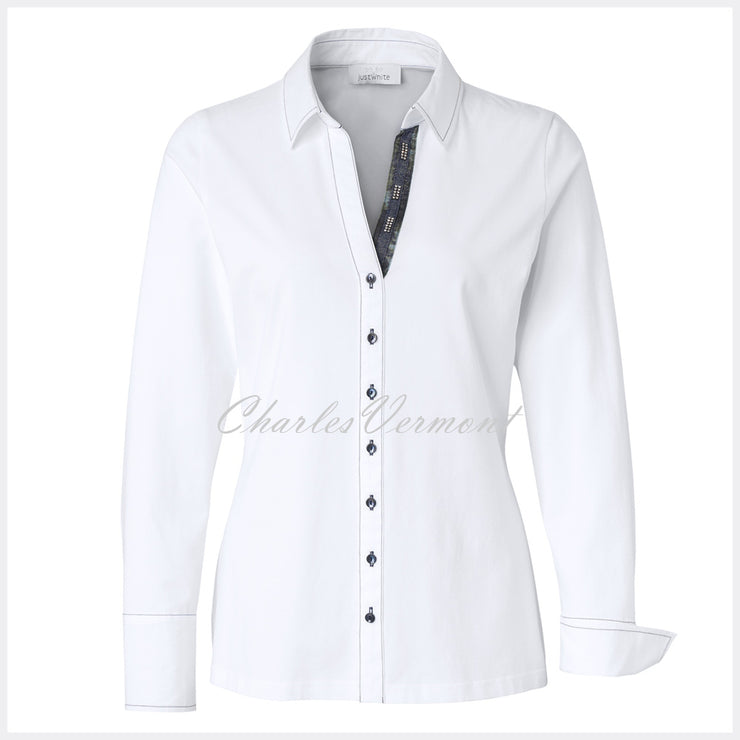 Just White Blouse – Style 49646
