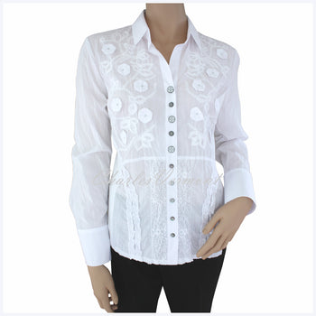 Just White Blouse – Style 49778