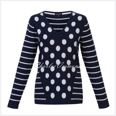 Marble Sweater – Style 5275-103 (Navy / White)
