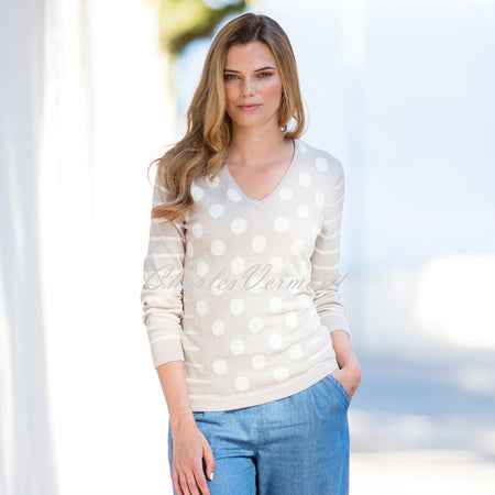 Marble Sweater – Style 5275-150 (Beige / Off-White)