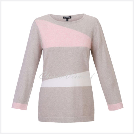 Marble Sweater – Style 5288-120 (Pink / Beige / Off-White)