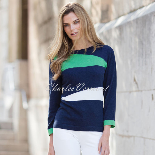 Marble Sweater – Style 5288-124 (Navy / Green / White)