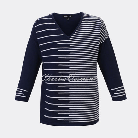 Marble Sweater – Style 5316-103 (Navy / White)