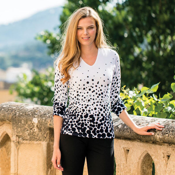 Marble Sweater – Style 5329-103 (White / Navy)