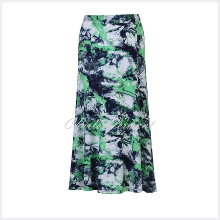 Marble Skirt – Style 5372-124 (Green / Navy / White)