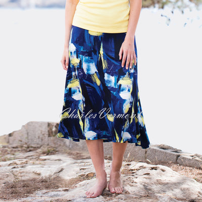 Marble Skirt – Style 5372-152 (Multi / Blue / Yellow)